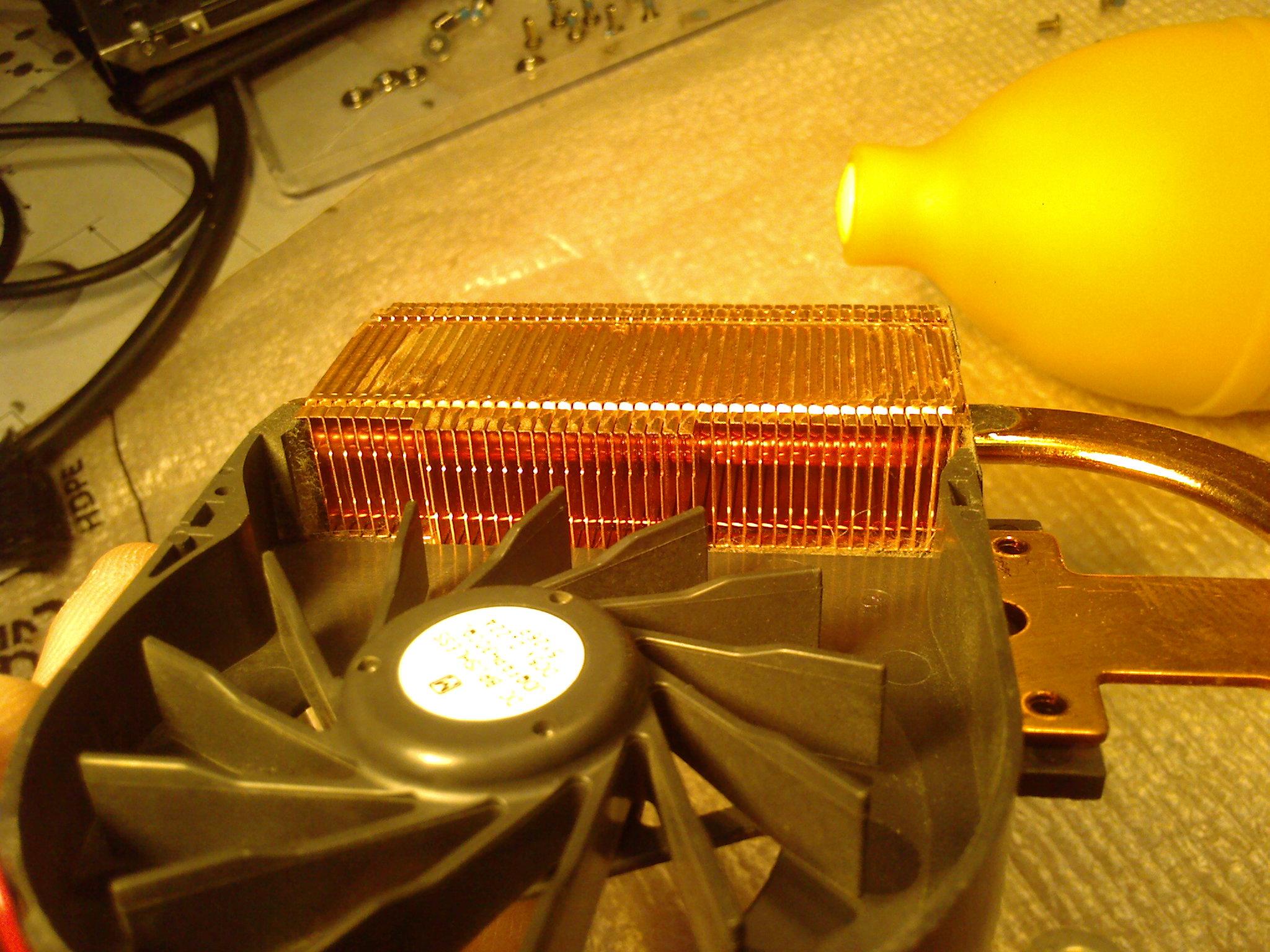 Система охолодження ноутбука після чистки